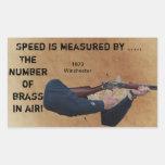 Latón en el aire - pegatina 1873 de la meta de