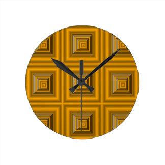 Latón enmarcado relojes