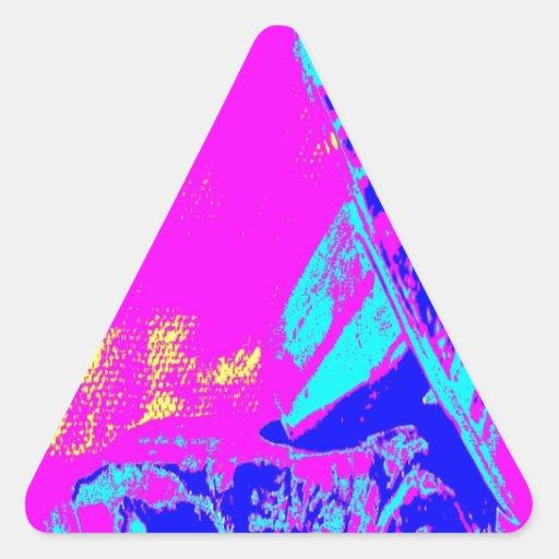 Latón M de la abrazadera Pegatina Trianguloada