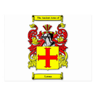 Latona Coat of Arms Postcard