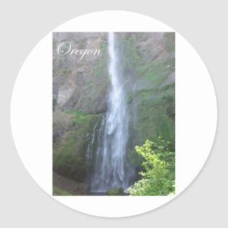 Latourell Falls Classic Round Sticker