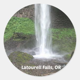 Latourell Falls, Oregon Classic Round Sticker