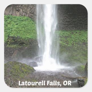 Latourell Falls, Oregon Square Sticker