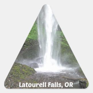 Latourell Falls, Oregon Triangle Sticker