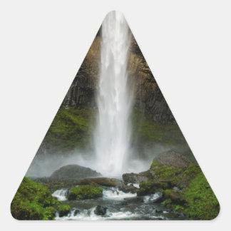 Latourell Falls Triangle Sticker
