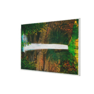 Latourelle Falls in Columbia River Gorge Gallery Wrapped Canvas