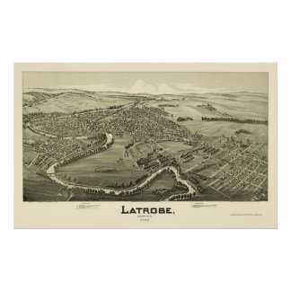 Latrobe, PA Panoramic Map - 1900 Poster