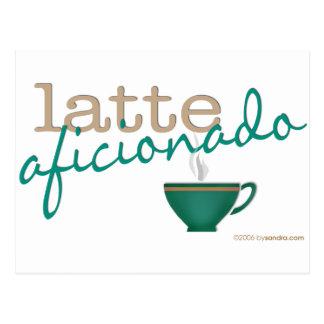 Latte Aficionado Postcard