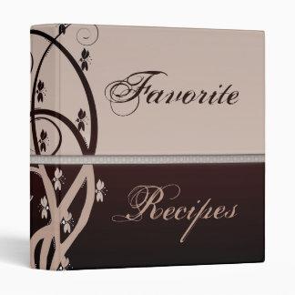 Latte and Cabernet Vine Recipe Book 3 Ring Binders