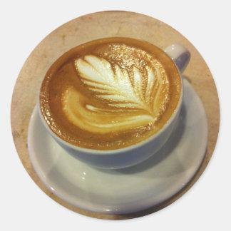Latte Art Classic Round Sticker