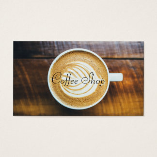 Latte Art Coffee House, Punch Card - Business Card