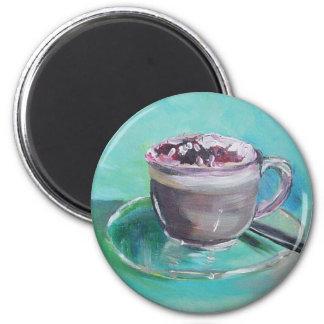 Latte art magnet