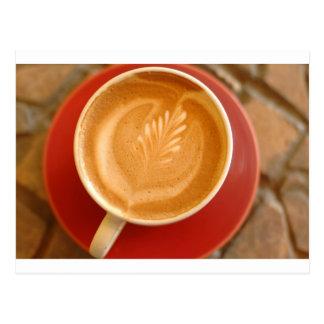 Latte Art Postcard