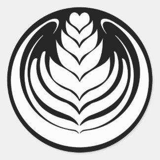 Latte Art Tulip Classic Round Sticker