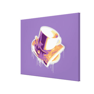 Latte + Biscotti Canvas Print