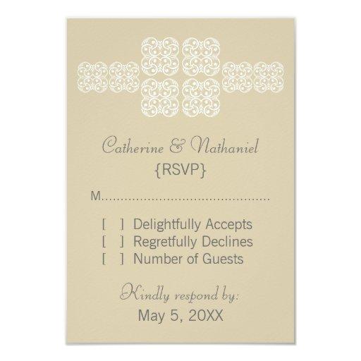 "Latte Bohemian Chic RSVP Card 3.5"" X 5"" Invitation Card"
