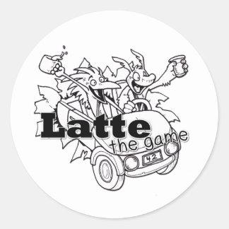 Latte Classic Round Sticker