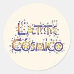 Latte Cósmico Pegatina Redonda