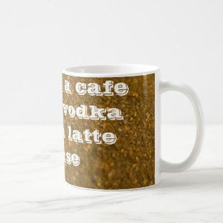 latte del valium de la vodka de la moca del café tazas