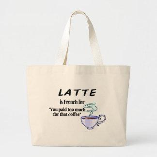 Latte es francés para… bolsas lienzo