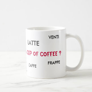 LATTE, FRAPPE, CAPPUCCINO, TALL, V... - Customized Coffee Mug