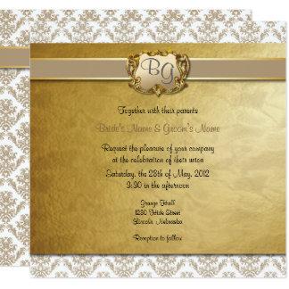 Latte' & Gold Elegant Wedding Invite - 1 NEW