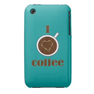 Latte Heart iPhone 3 Case for Coffee Lovers