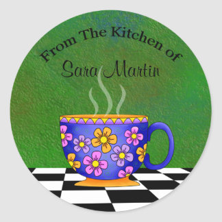 Latte Kitchen Stickers