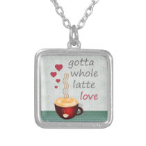 Latte Love Silver Plated Necklace