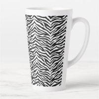 Latte Mug-Zebra Print Latte Mug