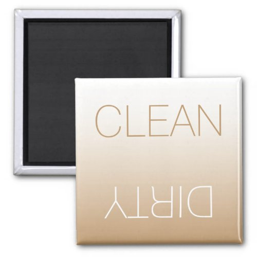 Latte Ombre Modern Clean Dirty Dishwasher Magnet