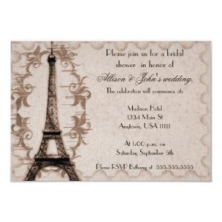 Latte Paris Grunge Bridal Shower Invitation