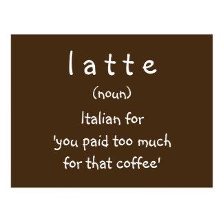 latte postcard
