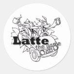 Latte Round Stickers