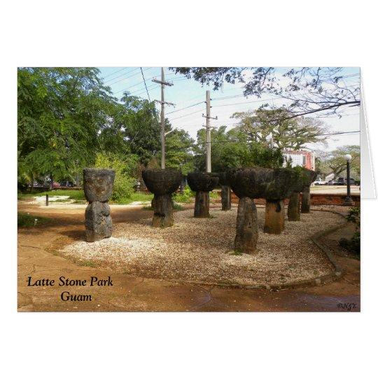 Latte Stone Park Guam Card