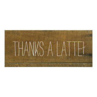 Latte, Vintage Inspired Old Wooden Coffee Sign