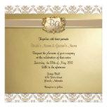 Latte y el boda elegante del oro invitan - a 1