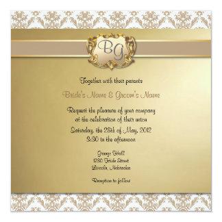Latte y el boda elegante del oro invitan - a 1 invitación 13,3 cm x 13,3cm