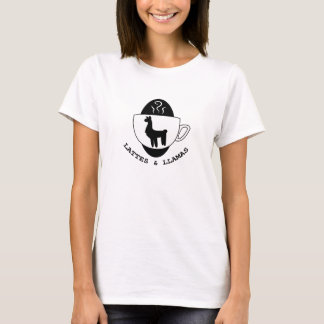 Lattes and Llamas Logo t-shirt