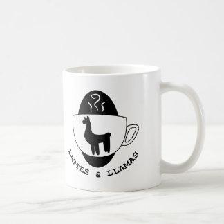 Lattes y taza del logotipo de las llamas