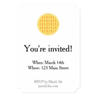 Lattice Apple Pie - Pi Theme Invitation