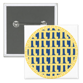 Lattice Blueberry Pie - Pi Day Button