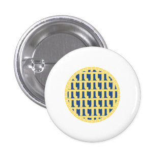 Lattice Blueberry Pie - Pi Day Pinback Button