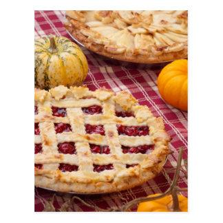 Lattice Cherry Pie And Apple Pie Postcard