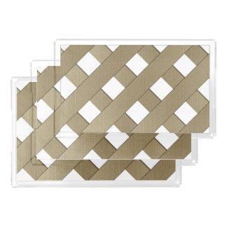 Lattice Fence Rectangle Serving Trays