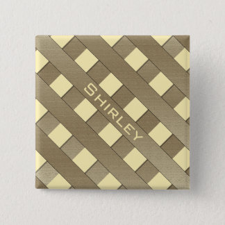Lattice Fence by Shirley Taylor Pinback Button
