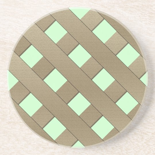 Lattice Fence by Shirley Taylor Sandstone Coaster