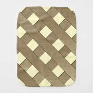 Lattice Fence Baby Burp Cloth