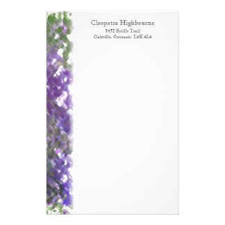 Lattice Floral Soft Purple Stationery