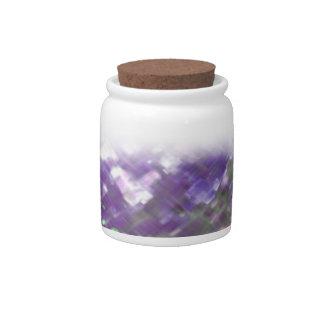 Lattice Floral Soft Purples Cork-Lid Jar Candy Jars